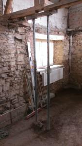 Bruchsteinmauerwerk im Inneren